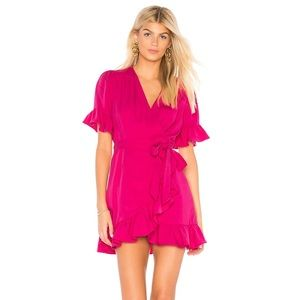 NWOT Line & Dot Pink Cherie Wrap Dress